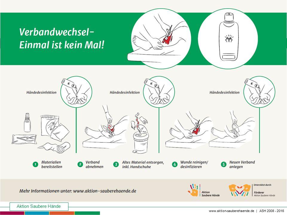 Aktion Saubere Hände Keine Chance den Krankenhausinfektionen www.aktion-sauberehaende.de | ASH 2008 - 2016