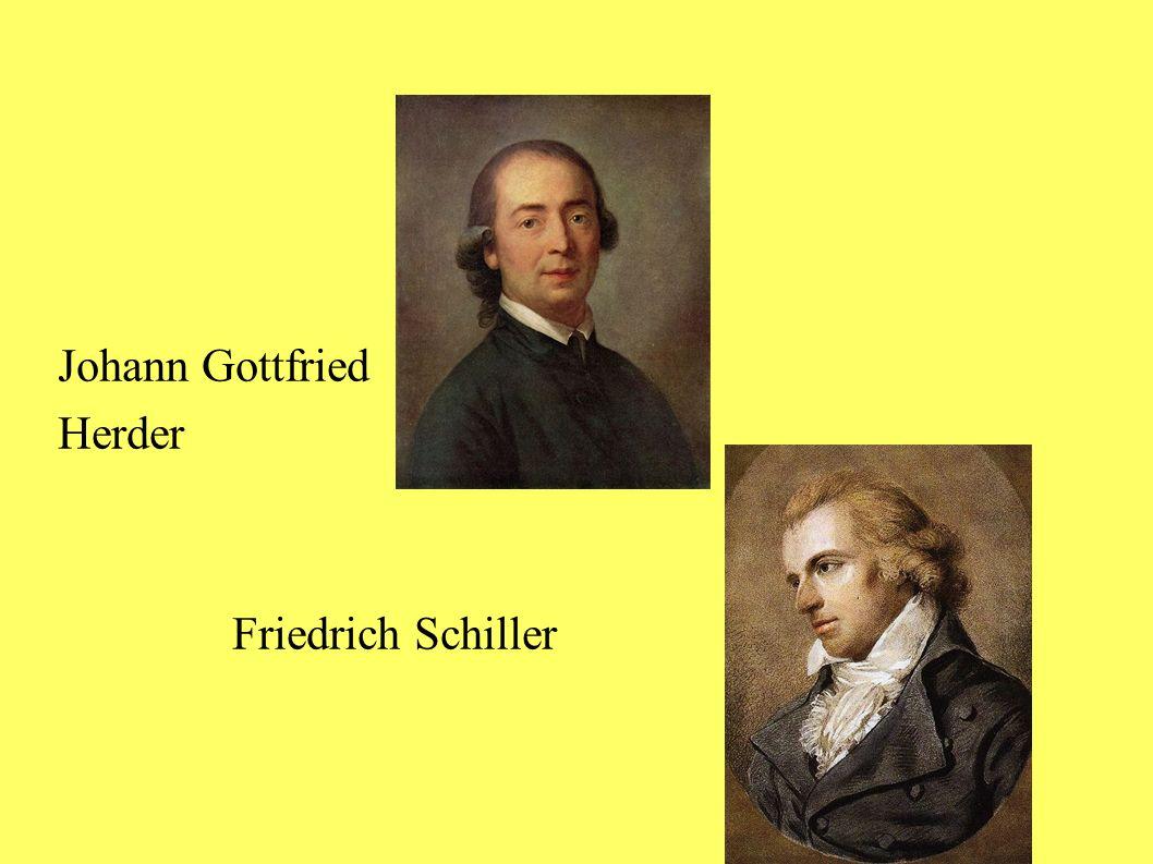Johann Gottfried Herder Friedrich Schiller