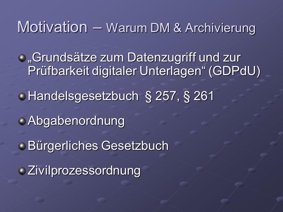 Archivierung – Allg.