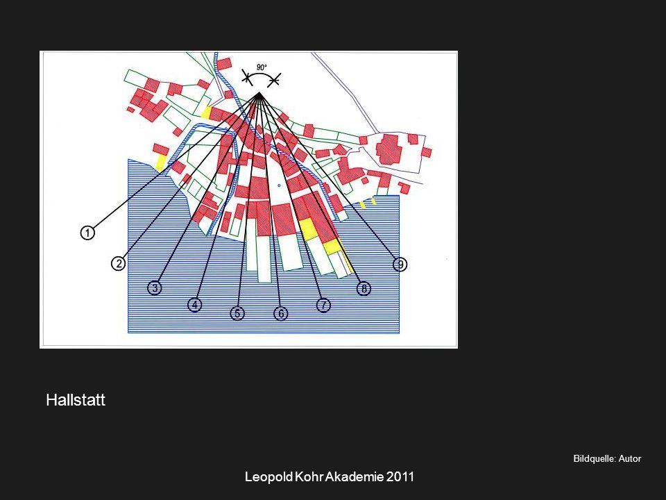 Leopold Kohr Akademie 2011 Hallstatt Bildquelle: Autor