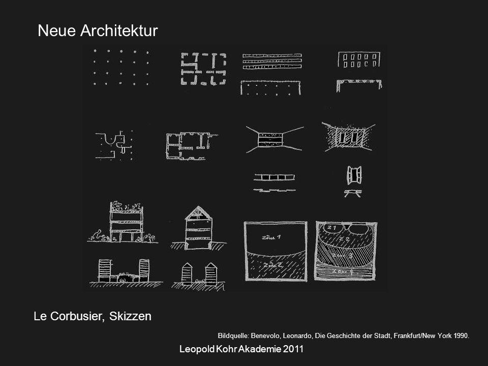 Leopold Kohr Akademie 2011 Le Corbusier, Skizzen Bildquelle: Benevolo, Leonardo, Die Geschichte der Stadt, Frankfurt/New York 1990.