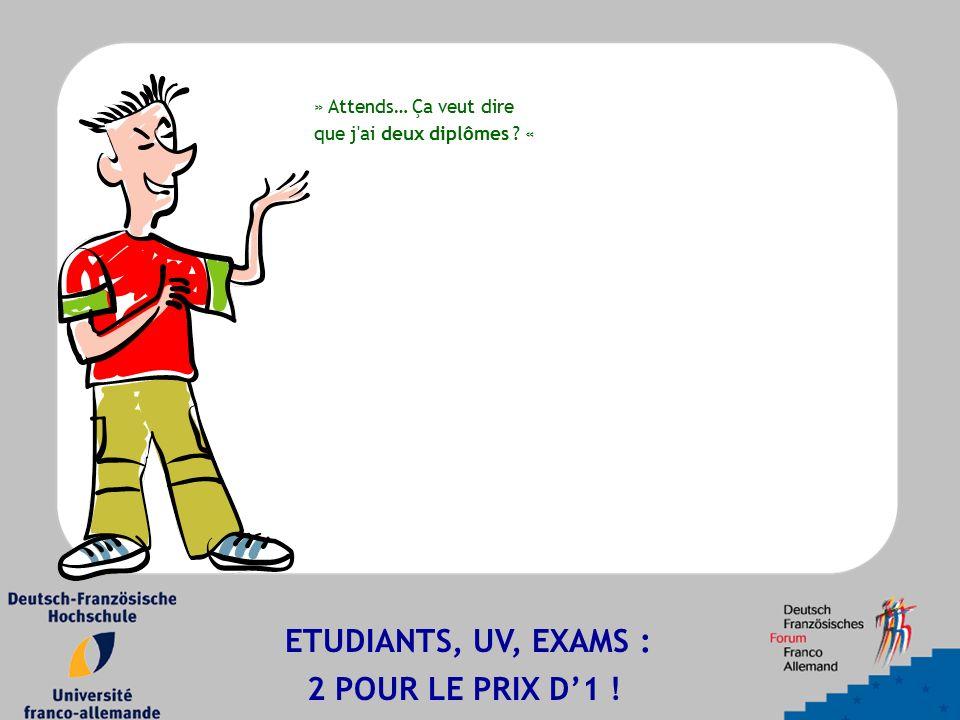 » Attends… Ça veut dire que j ai deux diplômes « ETUDIANTS, UV, EXAMS : 2 POUR LE PRIX D'1 !
