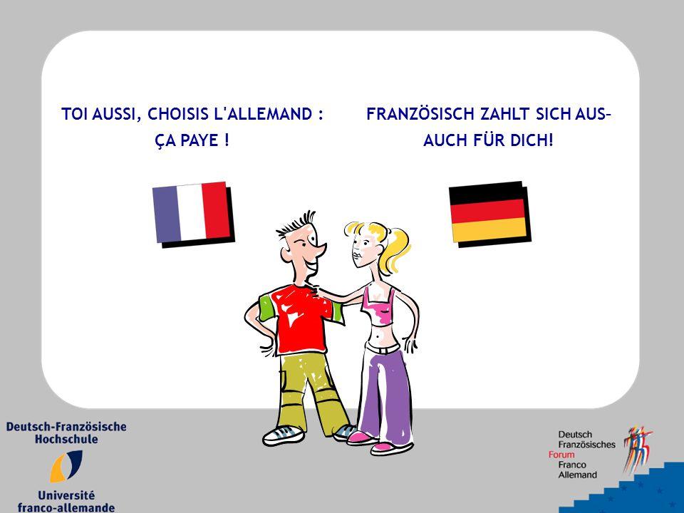 » J ai pas envie de devenir prof d allemand, moi ! « UN CURSUS, DEUX PAYS, DEUX DIPLOMES