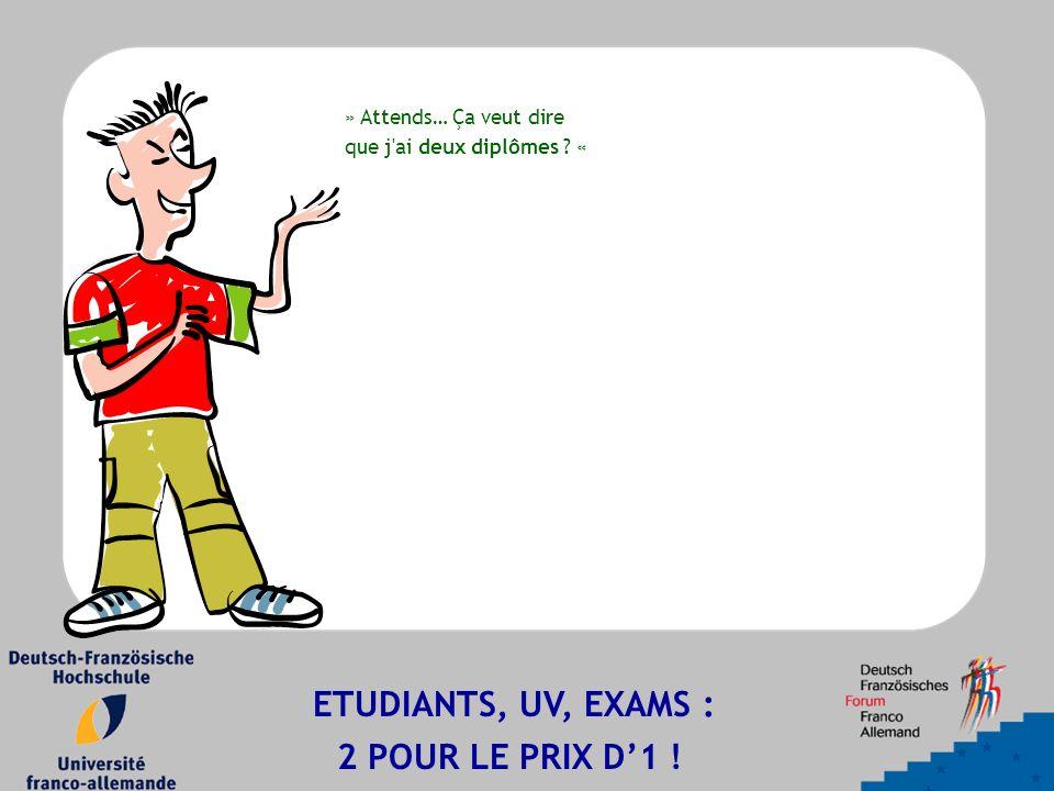 » Attends… Ça veut dire que j ai deux diplômes ? « ETUDIANTS, UV, EXAMS : 2 POUR LE PRIX D'1 !