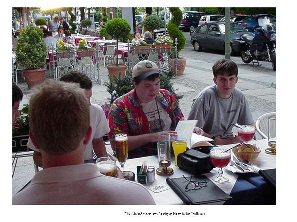Ein Abendessen am Savigny Platz beim Italiener