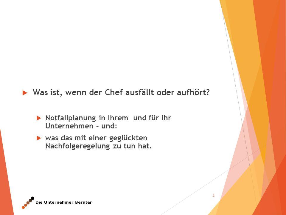 Die Unternehmer Berater Zur Person: Christian Dwars  geboren 1962  verheiratet, zwei Kinder  1981 bis 1986, Studium Rechtswissenschaften an der FU Berlin, 1.