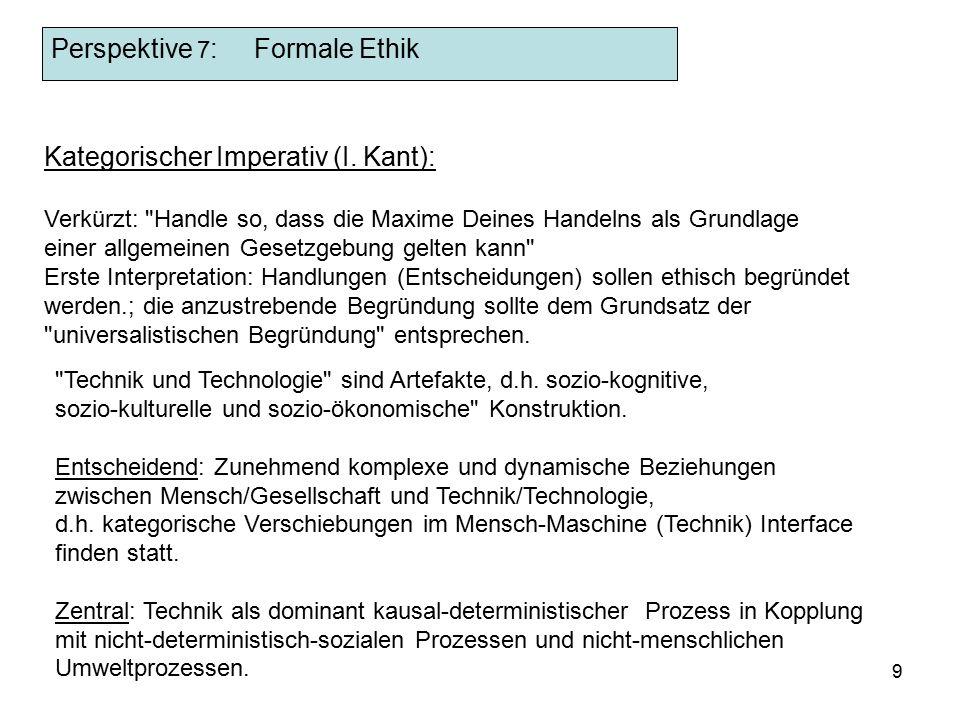 9 Kategorischer Imperativ (I.