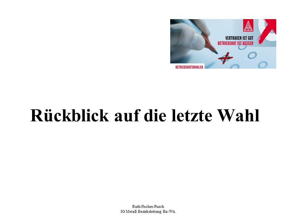 Ruth Fischer-Pusch IG Metall Bezirksleitung Ba-Wü. Wahlziele