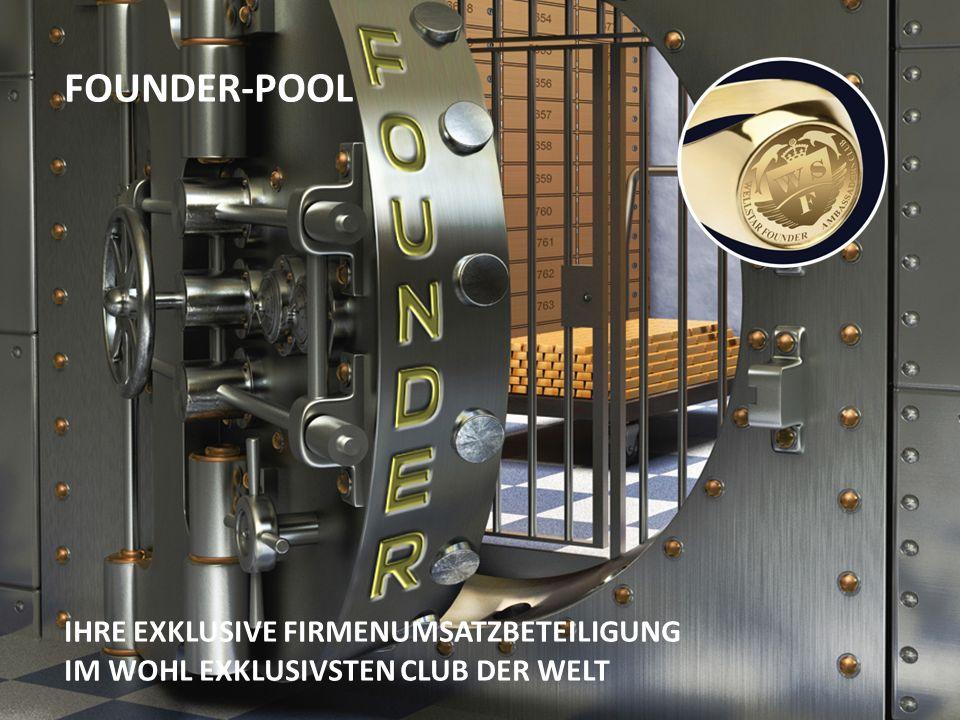 FOUNDER-POOL IHRE EXKLUSIVE FIRMENUMSATZBETEILIGUNG IM WOHL EXKLUSIVSTEN CLUB DER WELT