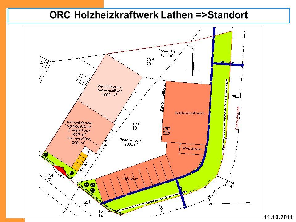 ORC Holzheizkraftwerk Lathen =>Standort 11.10.2011