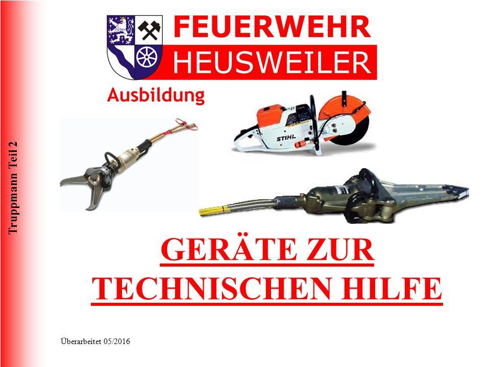 Truppmann Teil 2 Überarbeitet 05/2016 FwDV 3 Die Feuerwehrdienstvorschrift FwDV 3 regelt die Einheiten im Lösch- und Hilfeleistungseinsatz.