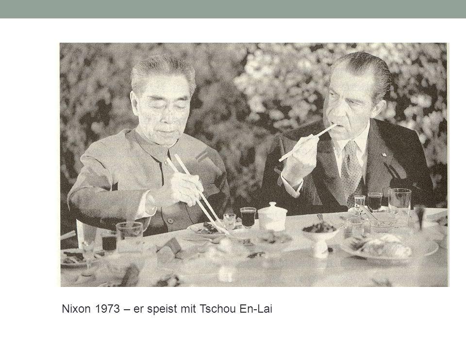 Nixon 1973 – er speist mit Tschou En-Lai