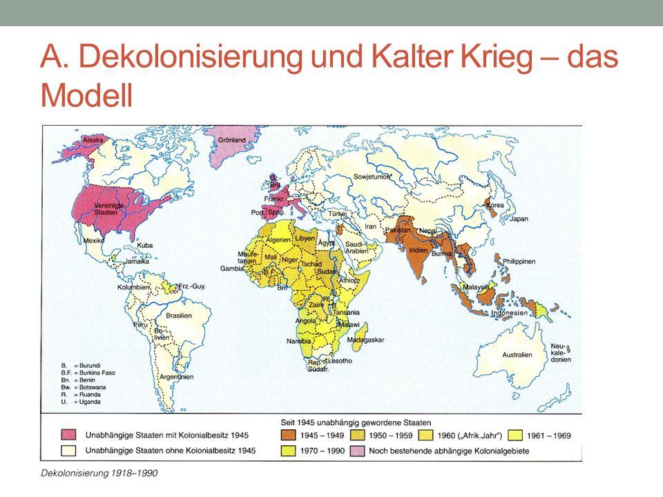 A. Dekolonisierung und Kalter Krieg – das Modell