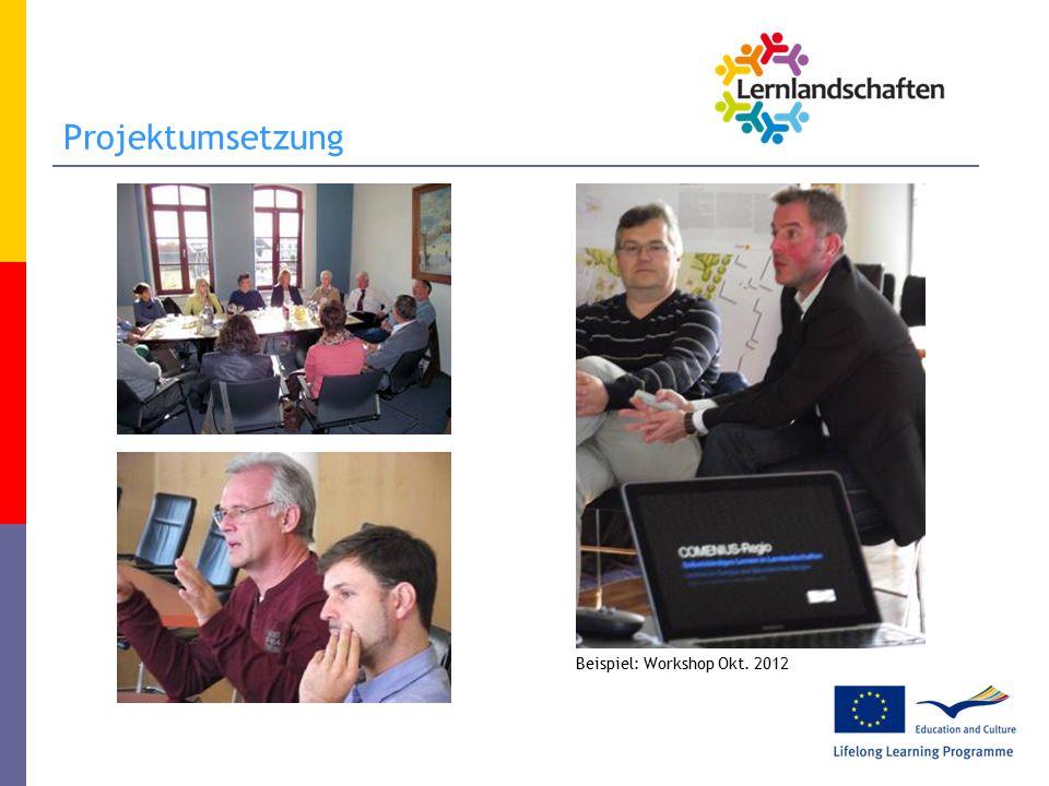 Projektumsetzung Beispiel: Workshop Okt. 2012