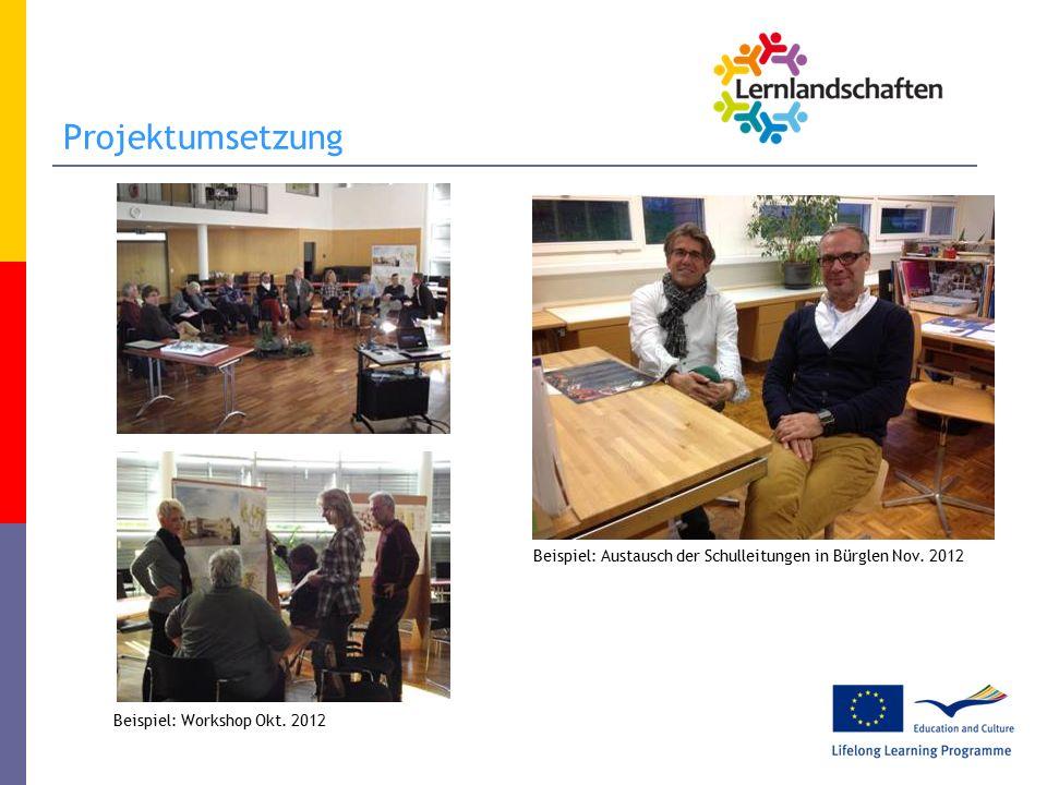 Projektumsetzung Beispiel: Workshop Okt.