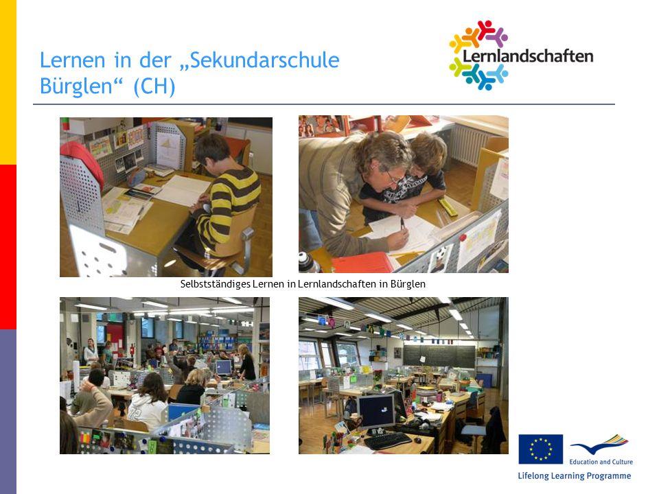 """Lernen in der """"Sekundarschule Bürglen (CH) Selbstständiges Lernen in Lernlandschaften in Bürglen"""