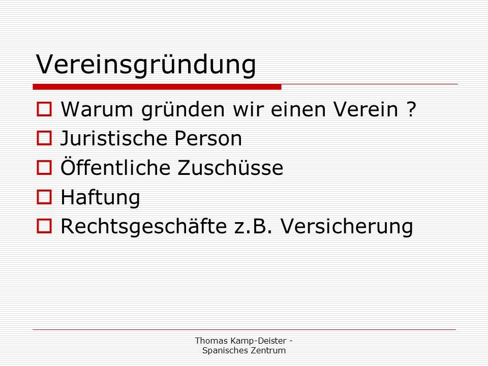 Thomas Kamp-Deister - Spanisches Zentrum Satzung eines Vereins  S a t z u n g Akademie Spanisches Zentrum e.V.