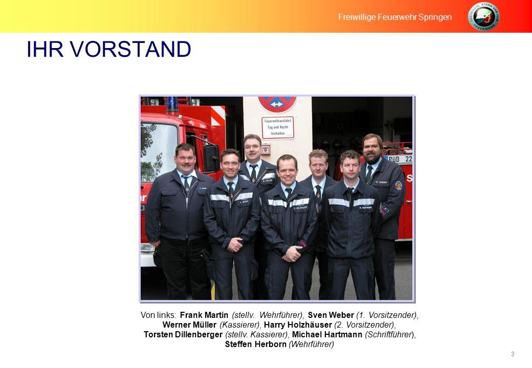 3 IHR VORSTAND Freiwillige Feuerwehr Springen Von links: Frank Martin (stellv.