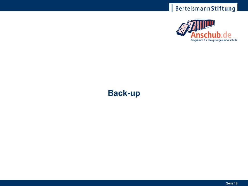 Seite 18 Back-up