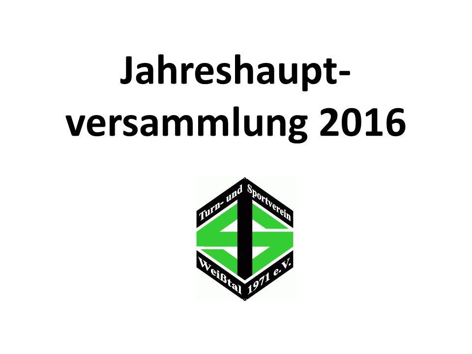 Jahreshaupt- versammlung 2016