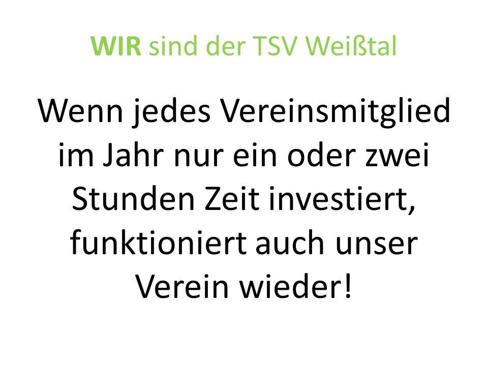 WIR sind der TSV Weißtal Kurzfristige Maßnahme:  Unterstützer-Bogen