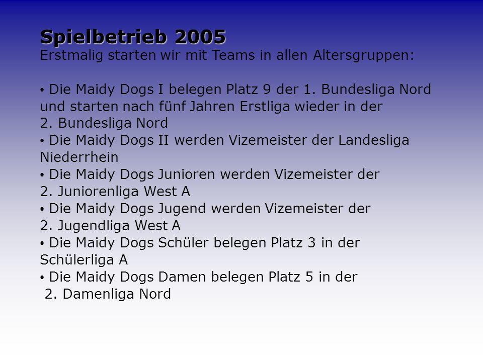 2005, mehr Fakten... Fertigstellung der Zufahrtstraße durch die Stadt Änderung der Satzung Neuer Vorstand am 02.12. Der Verein zählt aktuell ca. 270 M