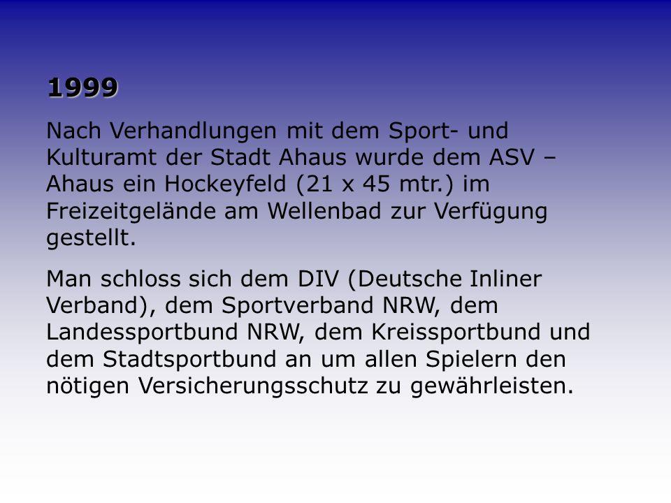 1997 – 1998 Es wurden Turniere im ganzen Bundesgebiet besucht. In Bochum, Köln, Neuss, Bonn und Dortmund wurden jedes Mal vordere Plätze belegt. Bei d