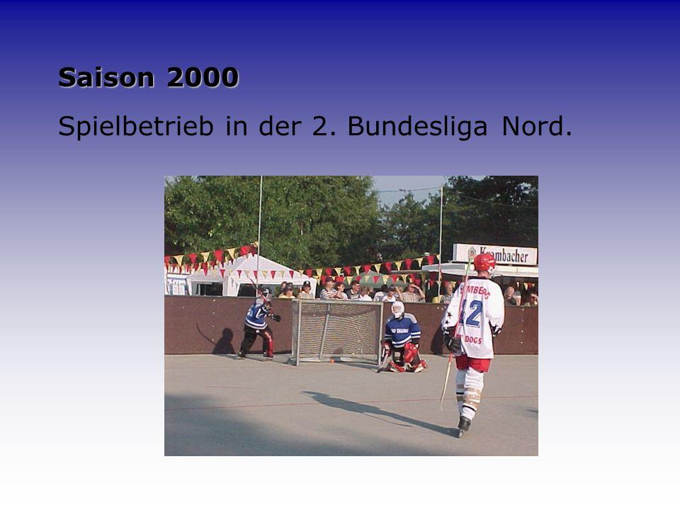 1999 Im selben Jahr wurde auch die 1. Herrenmannschaft die Maidy Dogs zum Ligaspielbetrieb des ISHD (Inline- Skaterhockey-Deutschland) in Köln gemelde