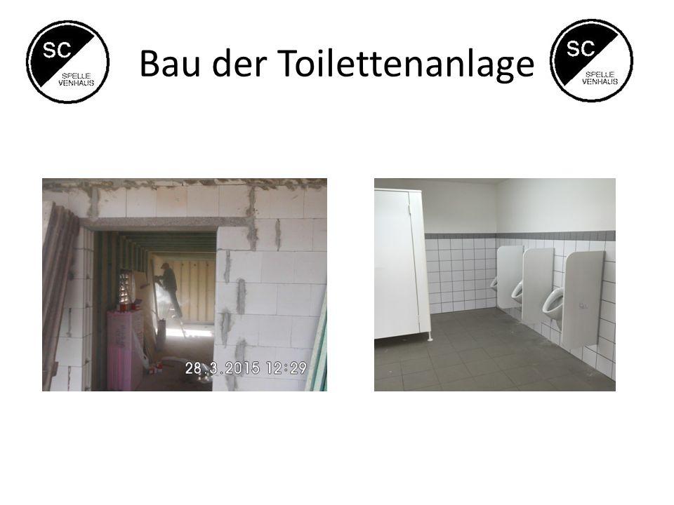 Bau der Toilettenanlage