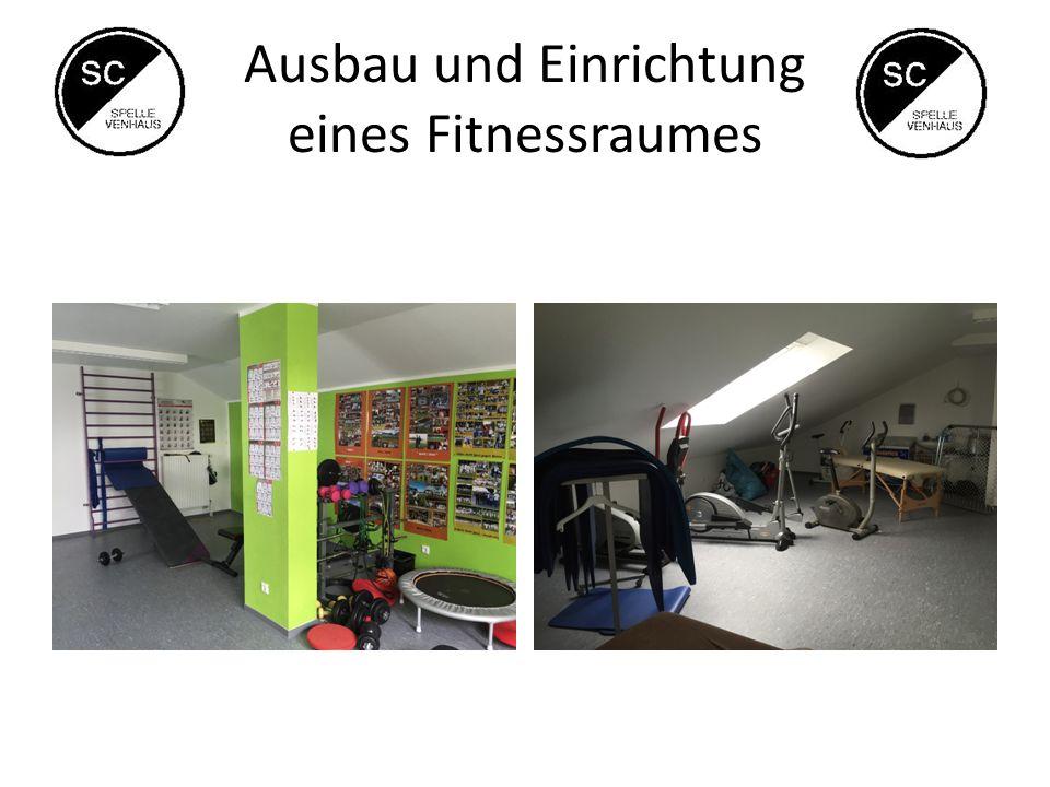 Ausbau und Einrichtung eines Fitnessraumes