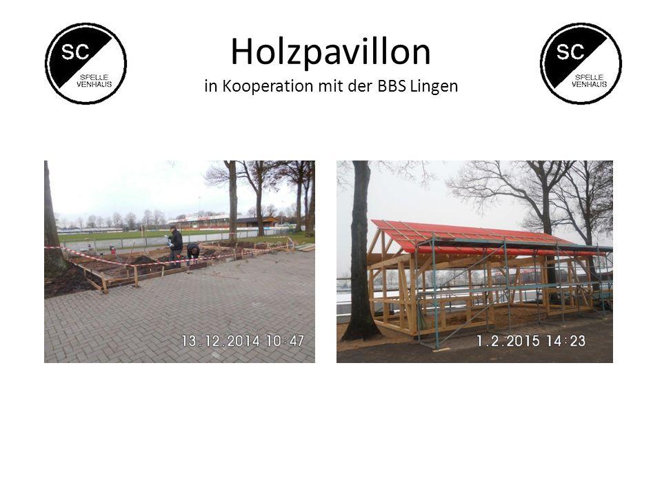 Holzpavillon in Kooperation mit der BBS Lingen