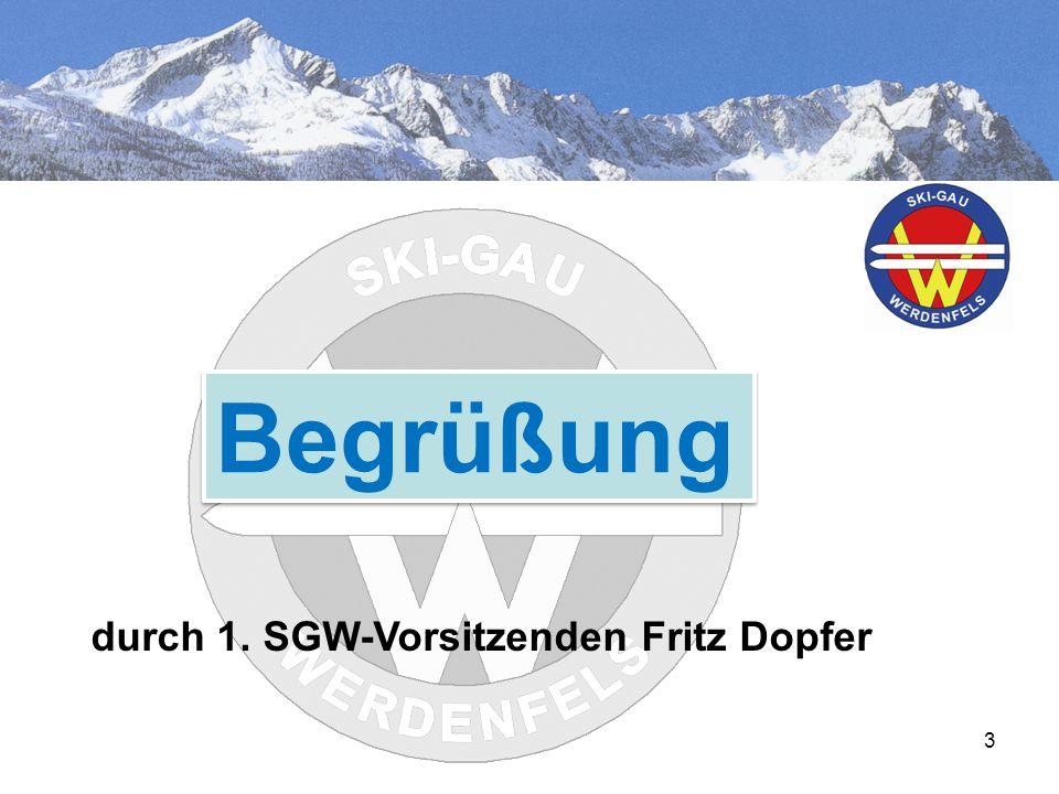 3 Begrüßung durch 1. SGW-Vorsitzenden Fritz Dopfer