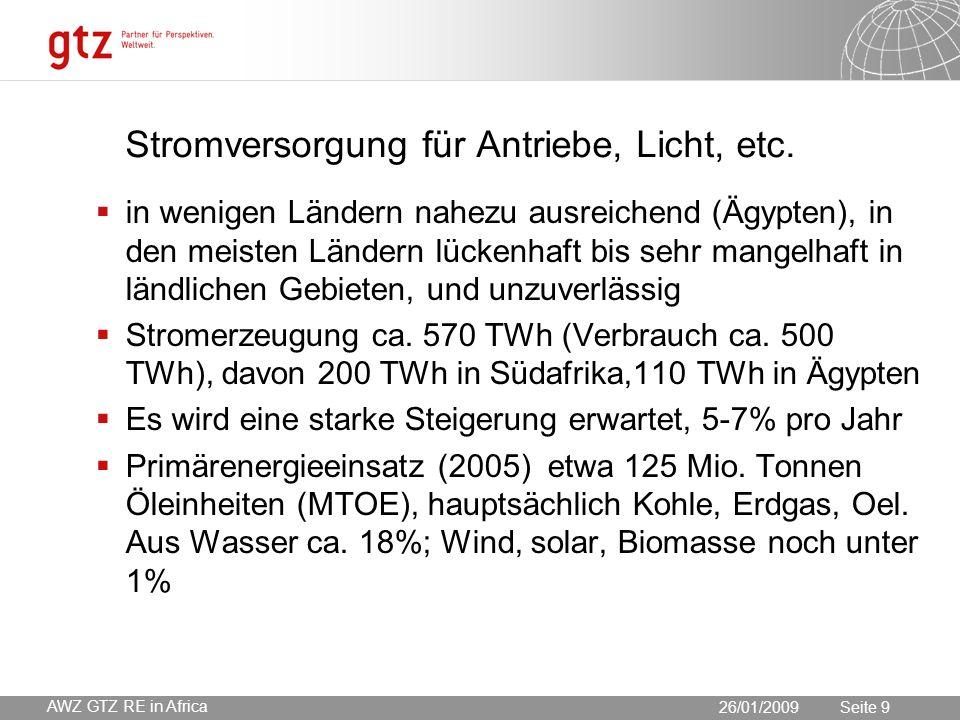 30.05.2016 Seite 9 Seite 9 Stromversorgung für Antriebe, Licht, etc.