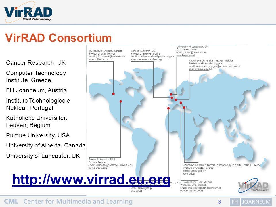 4 Motivation für die VirRAD Plattform Wenige RadiopharmakologInnen an einer Institution Beschränkter Kontakt unter KollegInnen Beschränkte Ressourcen für den Austausch Wenige lokale/regionale Trainingsmöglichkeiten Geringe Zahl an NachwuchswissenschaftlerInnen Radiopharmakologie ist ein sich rasch entwickelndes komplexes Spezialgebiet Overview