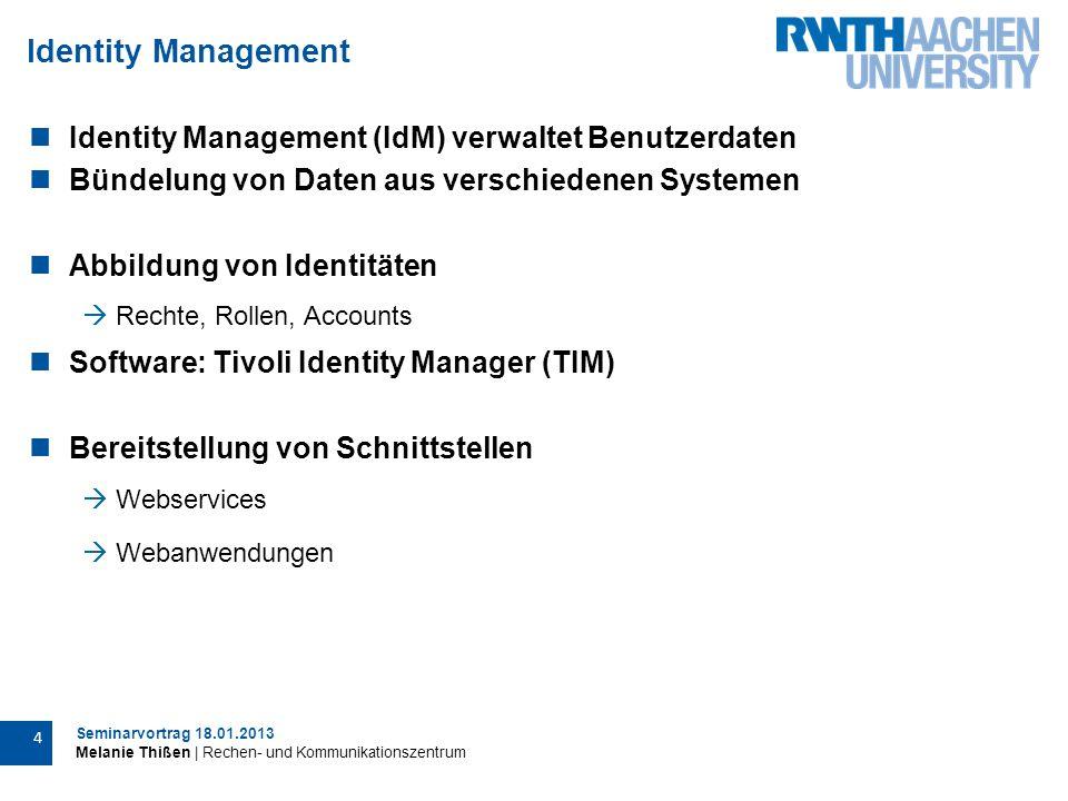 Seminarvortrag 18.01.2013 Melanie Thißen | Rechen- und Kommunikationszentrum 25 Tatsächliche Umsetzung