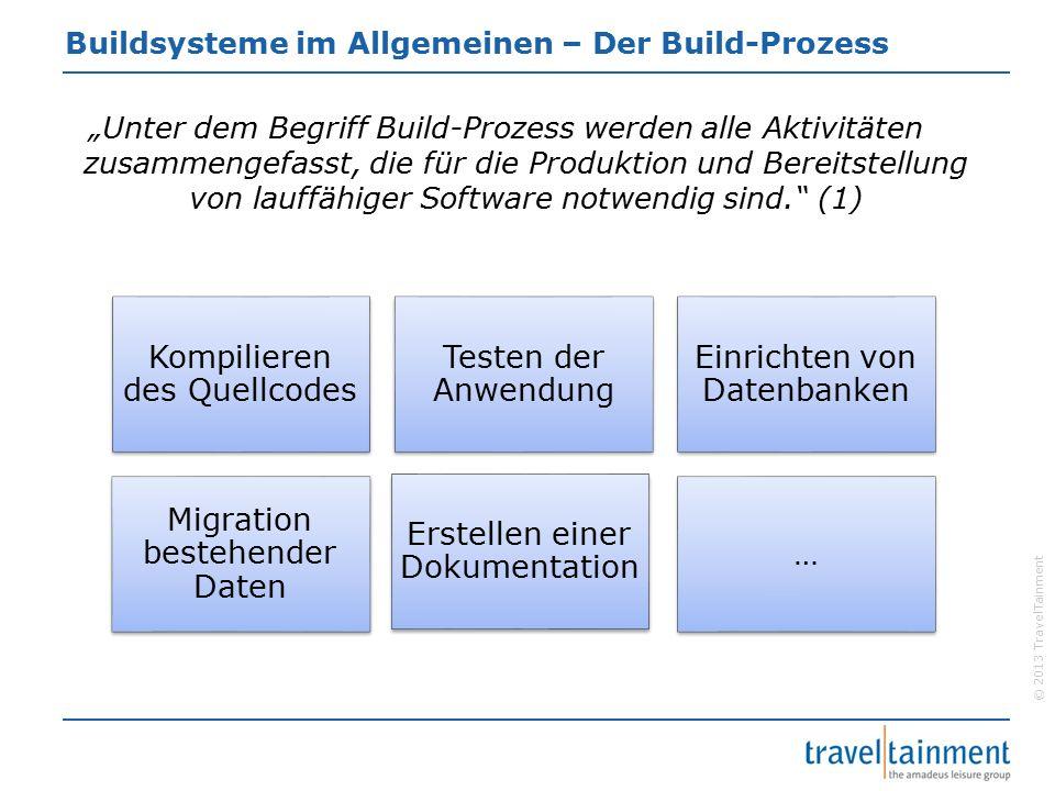 © 2013 TravelTainment Buildsysteme im Allgemeinen – Buildsysteme  Was ist ein Buildsystem und wie funktioniert es.