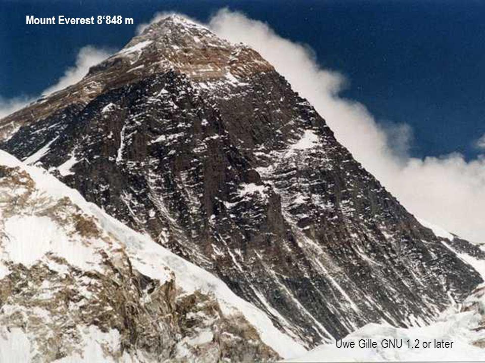Uwe Gille GNU 1.2 or later Mount Everest 8'848 m