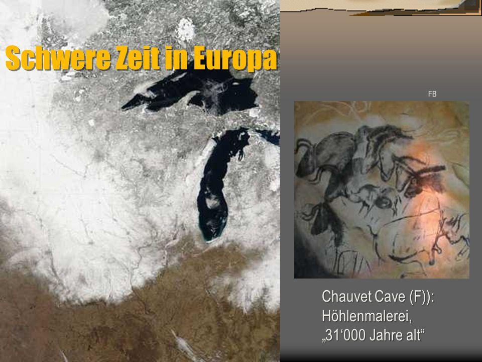 """FB Chauvet Cave (F)): Höhlenmalerei, """"31'000 Jahre alt"""" Schwere Zeit in Europa"""
