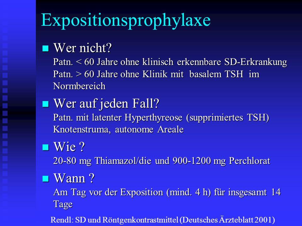 Expositionsprophylaxe Wer nicht. Patn.