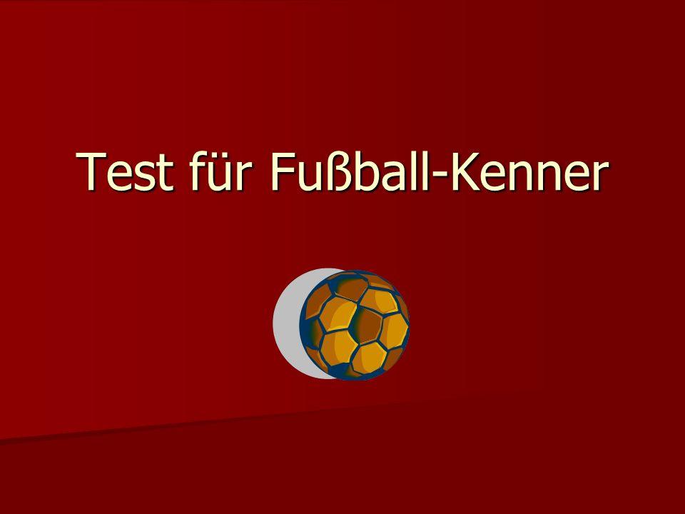 Test für Fußball-Kenner