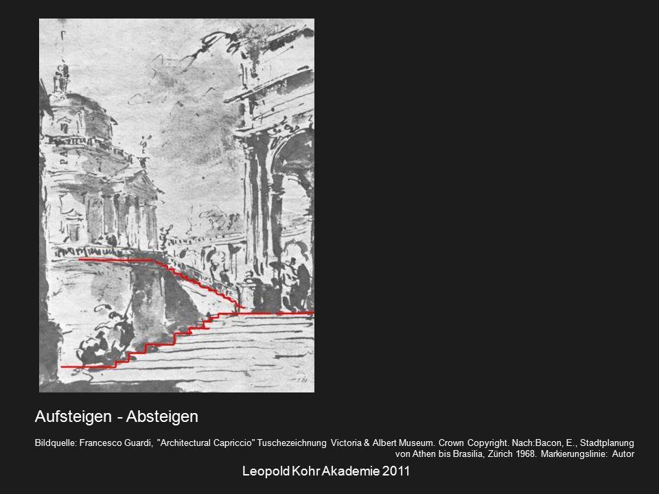 Leopold Kohr Akademie 2011 Aufsteigen - Absteigen Bildquelle: Francesco Guardi, Architectural Capriccio Tuschezeichnung Victoria & Albert Museum.