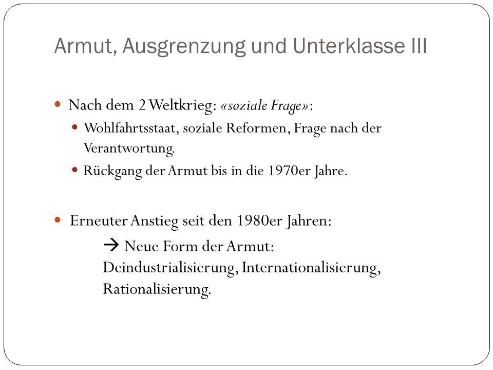 Exclusion & Underclass Kronauer, Martin (2000): Armut, Ausgrenzung und Unterklasse, in: Hartmut Häussermann (Hrsg.): Grossstadt.