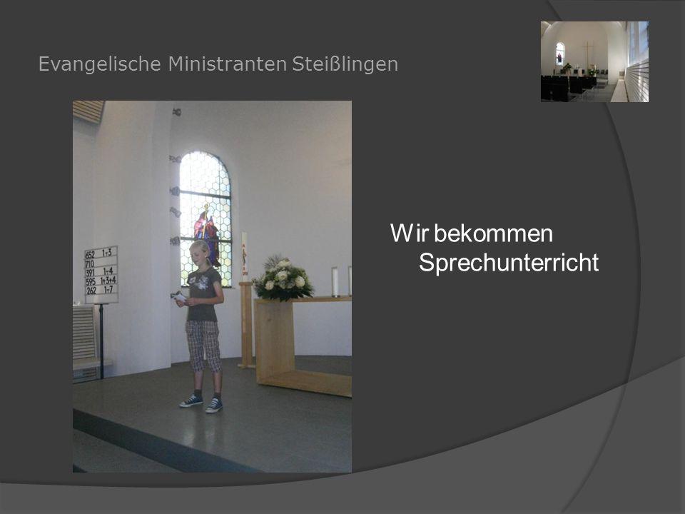 Evangelische Ministranten Steißlingen Wir bekommen Sprechunterricht