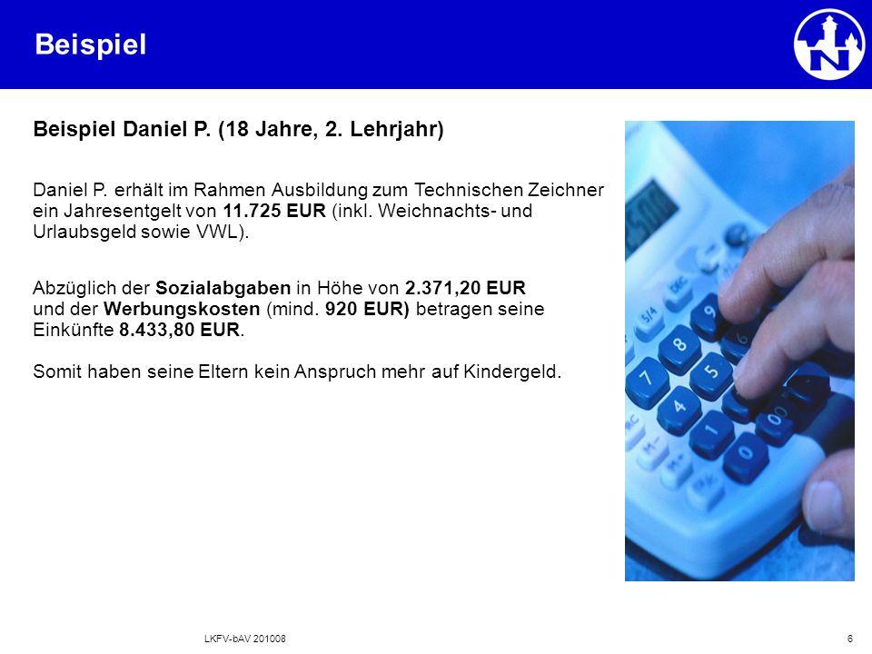 LKFV-bAV 2010086 Beispiel Daniel P. (18 Jahre, 2.
