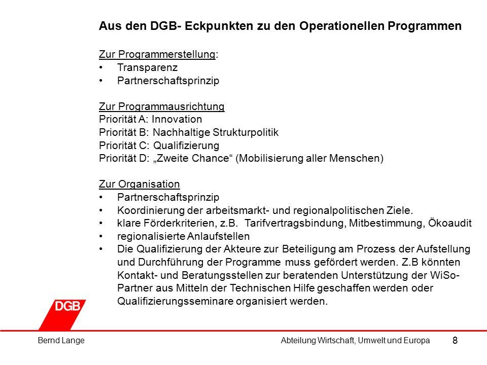 19 Landesregierung Niedersachsen: ESF-Förderung (3/5) Schwerpunkt 2: Verbesserung des Humankapitals, Ziel K 40,2 Mio.