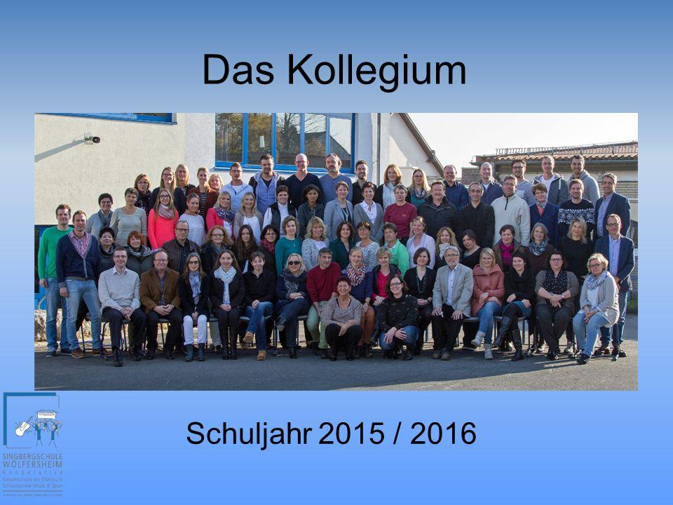 Das Kollegium Schuljahr 2015 / 2016