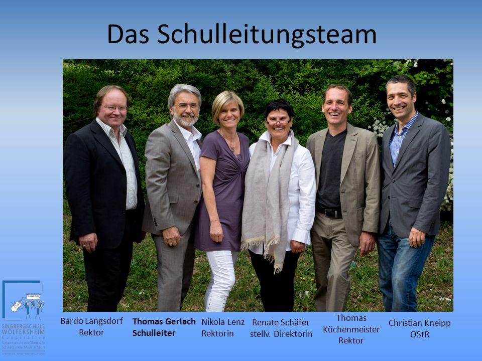 Das Schulleitungsteam Thomas Gerlach Schulleiter Bardo Langsdorf Rektor Thomas Küchenmeister Rektor Renate Schäfer stellv.