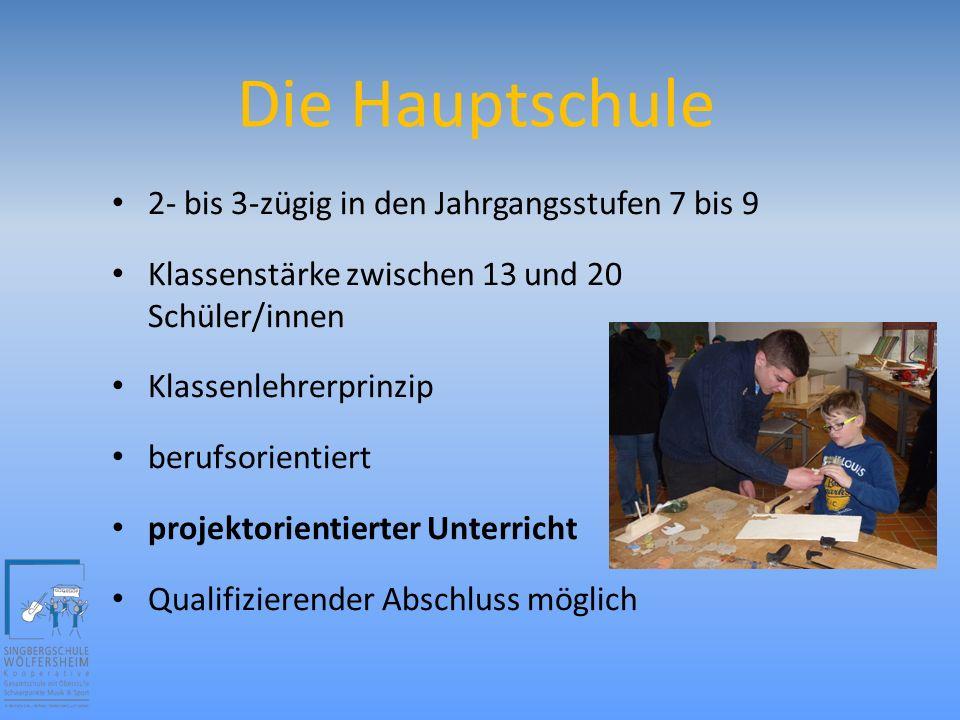 Die Hauptschule Kompo 7 (kompetenzorientiert) zweiwöchiges Blockpraktikum im Jg.