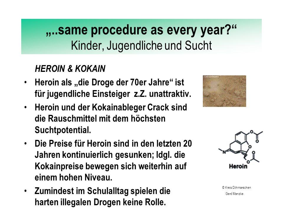 """""""..same procedure as every year Kinder, Jugendliche und Sucht ECSTACY steht stellvertretend für eine Gruppe synthetischer Drogen, die aufputschend und euphorisierend wirken."""