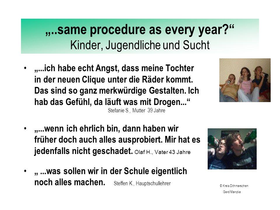 """""""..same procedure as every year Kinder, Jugendliche und Sucht """"...ich habe mit 11 Jahren mit dem Rauchen angefangen."""
